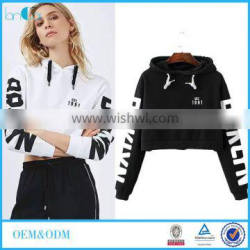 2016 Autumn Women New Fashion Letters Printing Long Sleeve Hooded Sweatshirts
