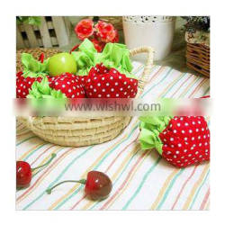 foldable reusable strawberry shopping bags