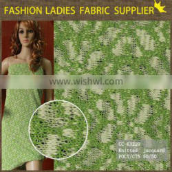 Moden knitted jacquard fabric,knit fabric for garment,wholesale poly/cotton knit fabric