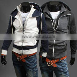 2015 Hot Sale men's custom hoodies new zip custom fashion cheap men hoodies