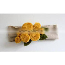 Factory directly professional produce felt shimmer headband for baby