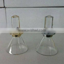New Arrival Mini Glass Clear Perfume Cake Dome Covers ,Perfume Accessory For Decoration With Screw Cap