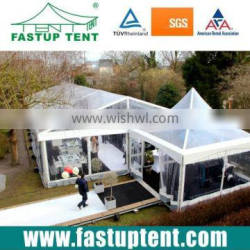 Transparent wedding party tent with aluminum alloy frame and pvd fabric waterproof