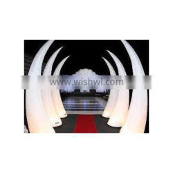 LED inflatable tusk inflatable led ivory balloon