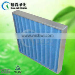 Guangzhou Supplier Stainless Steel Frame Blue Synthetic Fibre Foldaway Plank Filter