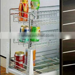 Iron Wire Chrome Plated Pull Basket