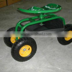 rolling tool cart /tractor scoot/swivel trator seat
