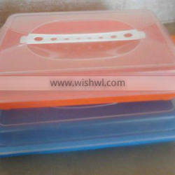 clear rectangle plastic cheese box