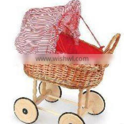 handmade of natural material wicker basket for baby