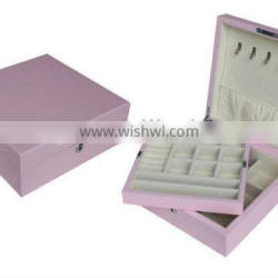 Spray painted pink wooden jewelry box