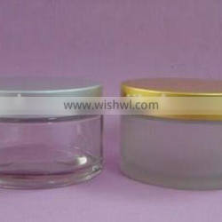 Frosted Cosmetic Cream Glass Jar A-1