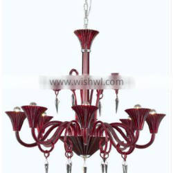 Simple style red baccarat crystal chandelier QS1111-8
