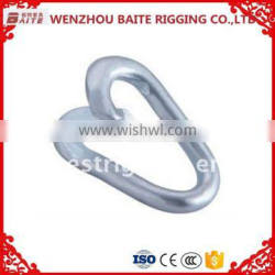Galvanize Carabiner Wholesale Steel Electric Galvanized Repair Lap Link Zinc Plated Hardware Manufacture