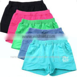 knitting pants made in china, china supplier high quality printing SHORTS for women