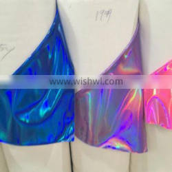 PU leather for ladies shoes upper usage with hologram effect Quality Choice