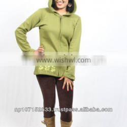 SHW207 cotton fleece side embroidery jacket price 750rs $7.5