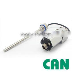 Non contact high accuracy mobile cylinder absolute position measurment magnetostrictive CANBus output linear positon sensor