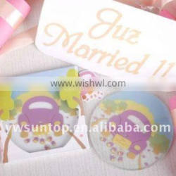 colorful car round glass coaster as baby shower wedding favors