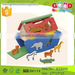 CE standard Noah's Ark wooden animal toys