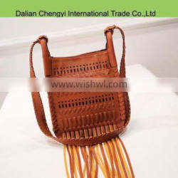 Newest fashion pu leather ladies shoulder bags with tassels