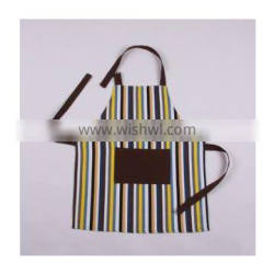 Eco-friendly coffee striped apron for children