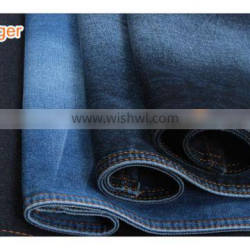 high quality cotton polyster in stock jeans fabric for men