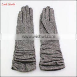 Ladies wearing spring thin long wool gloves