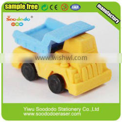 wholesale kids stationery crazy car shaped 3d erasers for school
