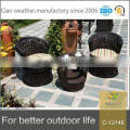 UV-resistant outdoor rattan coffee table furniture set