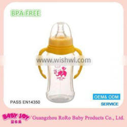 High quality food grade squeeze milk cute baby bottle