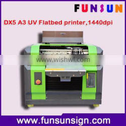 Good price A3 flatbed small UV printer with DX5 head ,1440dpi