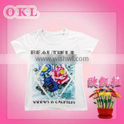 Cixi new arrival fashionable cute wholesale baby t shirt girls kids t shirts design