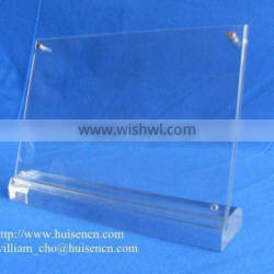 Acrylic poster display stand for counter display