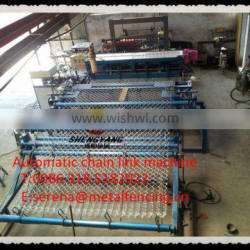 full automatic weave chain link machine (pvc wire or galvanized wire)