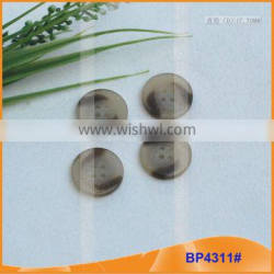 Resin Shirt Buttons Round 4 Holes Polyester Resin Buttons BP4311