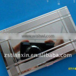stainless steel business card holder/ fancy blank business id card holder