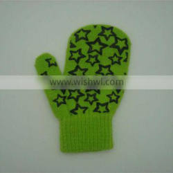 Boxi-High quality the stars printed plastic package that children acrylic gloves