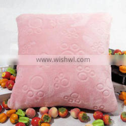 Popular Cheap Pure color Pink Embossed Sofa Cushion for Sale