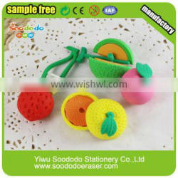 Japanese Novelty Products Fruit rubbers erasers free sample