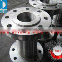 ANSI Carbon steel long welding neck forged flange China supplier