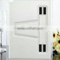 TPU soft shell pu leather case with elastic band for tablet
