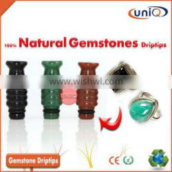 Hot Selling Colorful 100% Natural Gemstone drip tips