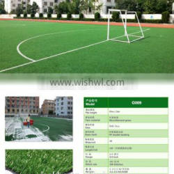 Novelty golden product synthetic fibre artificial grass for football field