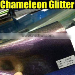 High quality chameleon glitter vinyl sticker with air free bubble
