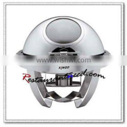C013 Round Stainless Steel Roll Top Chafing Dish With Show Window