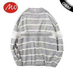 autumn classical round collar pullover cross stripe knit sweater men for youth