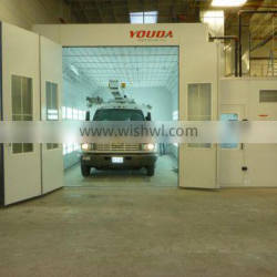 European design Water curtain spray booth with CE Approved