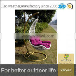 Ciao outdoor furniture patio hanging swing chair for indoor also