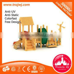 kids wooden playground, wooden outdoor playground equipment factory sale