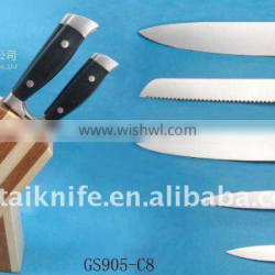 Top quality super knife in knife block